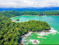 manuel antonio national park puerto escondido playa gemelas aerial views 