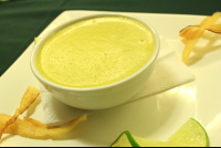 asparagus soup at mastico restaurant 