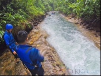 ready to jump in the blue river rincon de la vieja