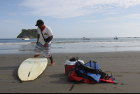 preparing SUP chora island