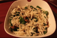 spinach and pecorino salad 