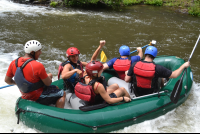 smiling on rapids 