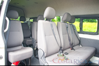 hiace alto mini van seat interior with door open  - Costa Rica