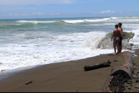 dominical beach attraction surfer 