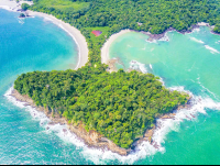 manuel antonio national park cathedral point looking north aerial views