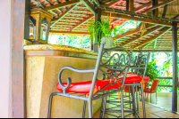 bar counter with chairs