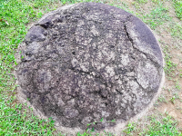 sphere barried on the ground