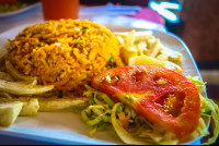 grande de orosi whitewater rafting rice with chicken