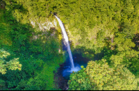 fortuna waterfall aerial lateral view dji_  - Costa Rica
