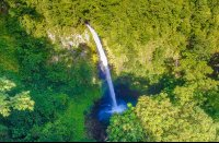fortuna waterfall aerial lateral view dji_