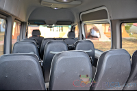 white mercedes benz sprinter van heredia seat row views from the back  - Costa Rica