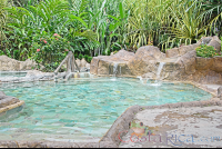 los lagos hot springs cement pool with small waterfall  - Costa Rica