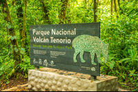 tenorio national park sign celeteste river waterfall tour 