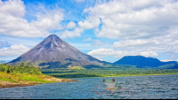 arenal volcano view from lake arenal    - Costa Rica