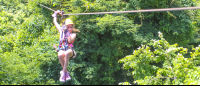 young girl ziplining canopy mal pais