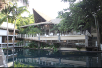 main building from pool