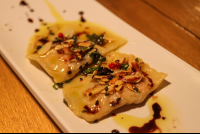 shrimp ravioli
