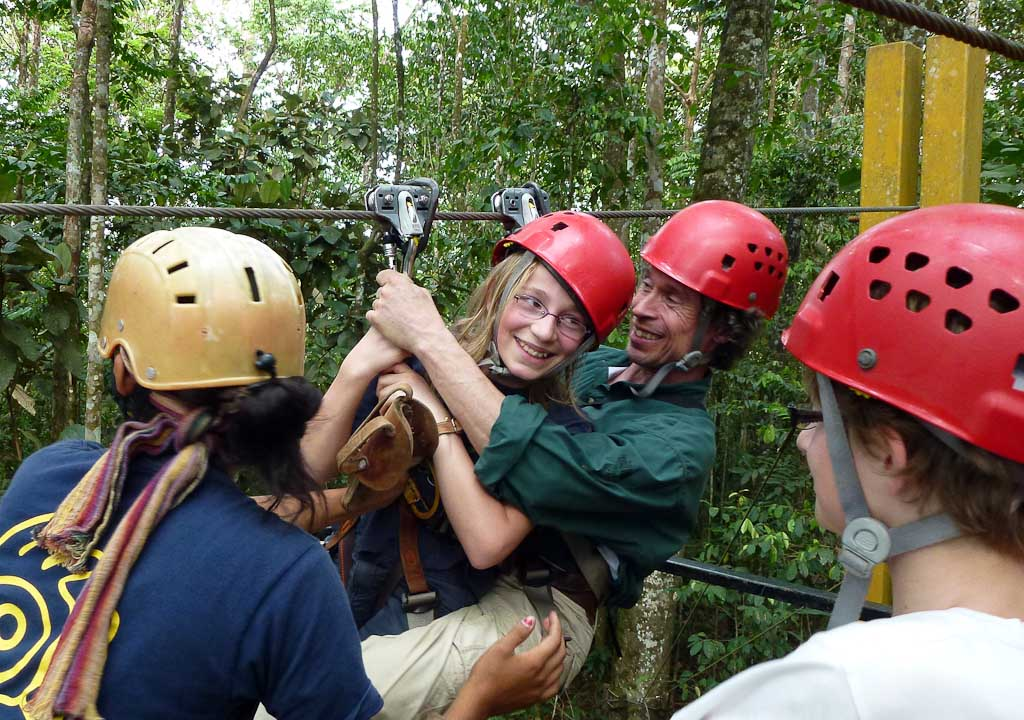 canopy tour sarapiqui father daughter zipline