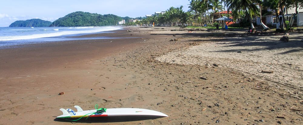 jaco surf lesson board beach 