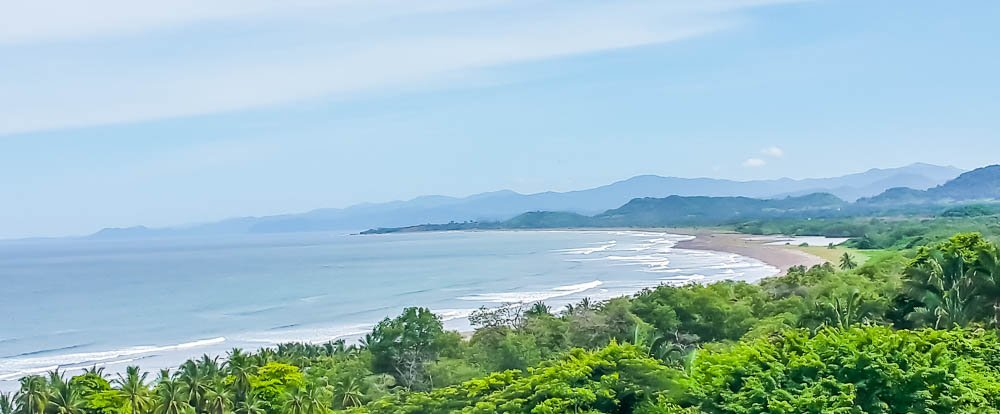 caletas samara coyote ario beach coastline view  - Costa Rica