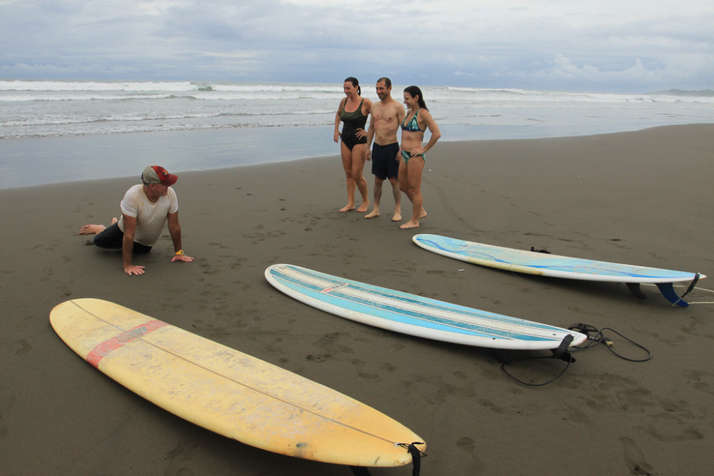 First time surfing in Costa Rica
