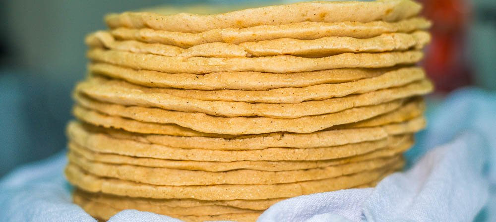 corn tortillas stack  - Costa Rica