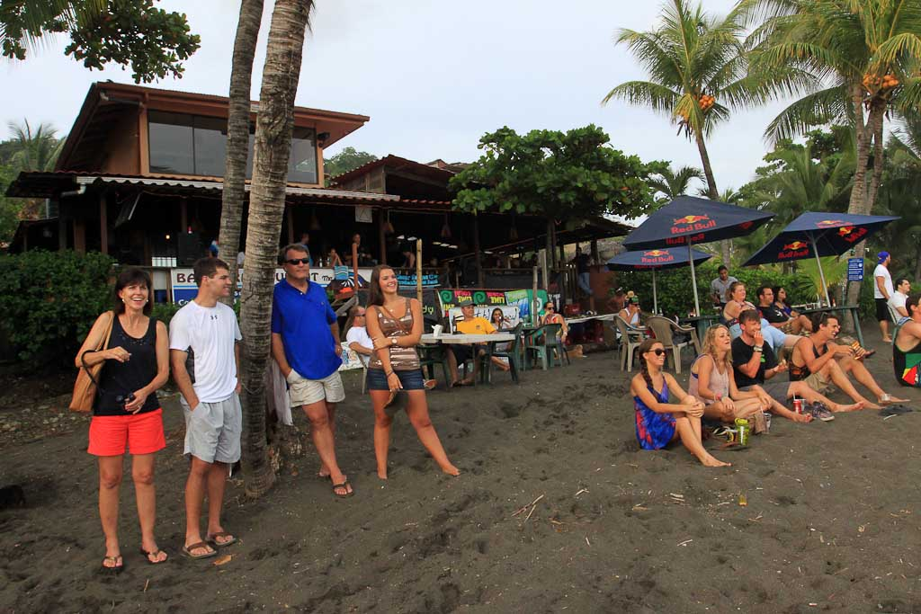 hermosa surf contestest crowd 