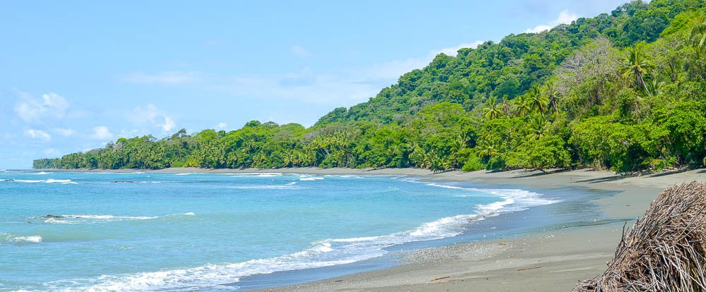 hike from sirena to la leona ranger station corcovado national park beach  - Costa Rica