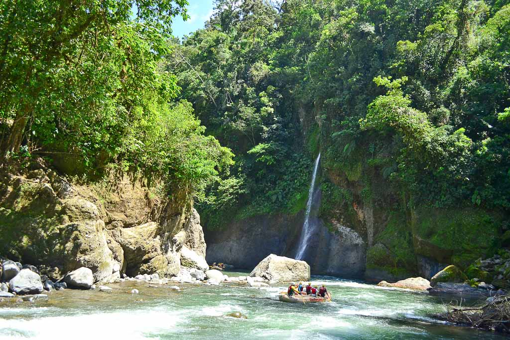 paddling through the canyon
