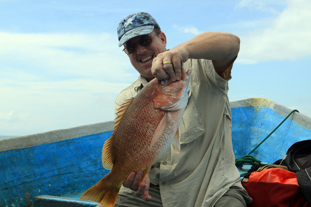 in shore fishing manuel antonio scott snapper 