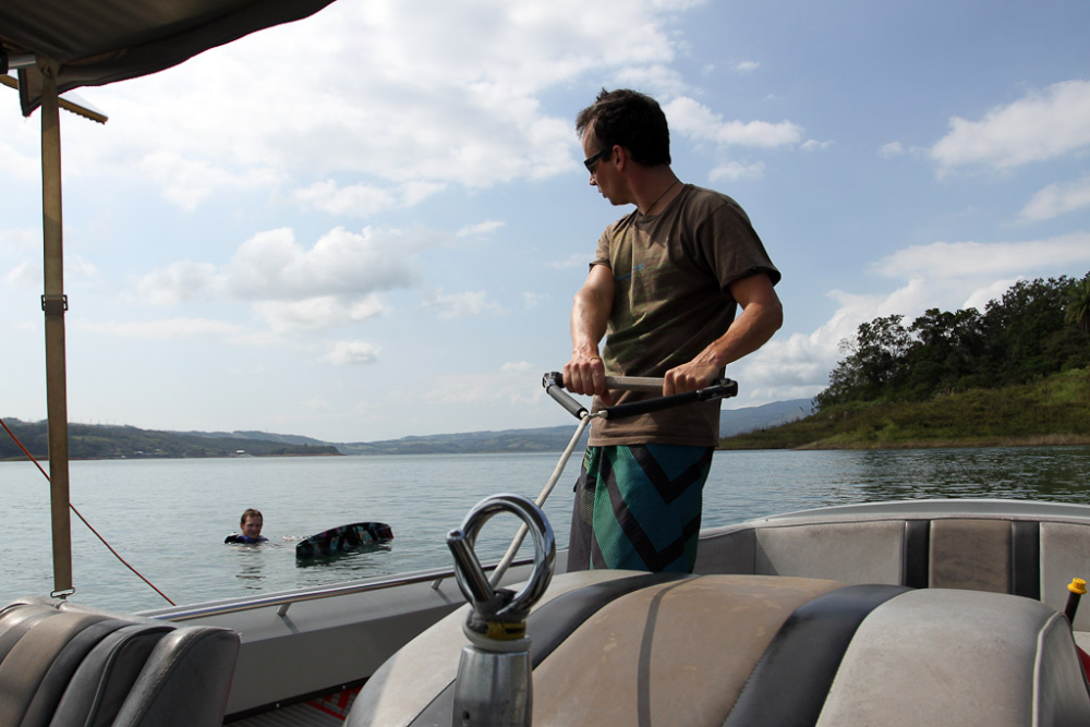 Wakeboarding on Lake Arenal