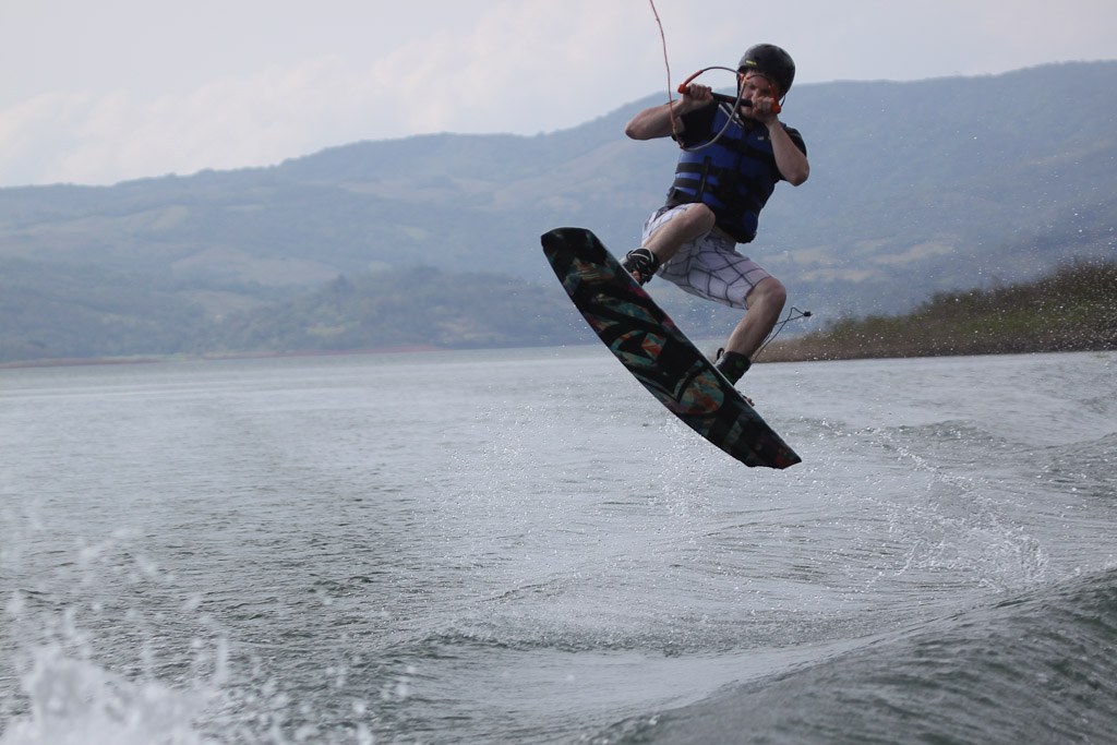 wakeboarding lake arenal 