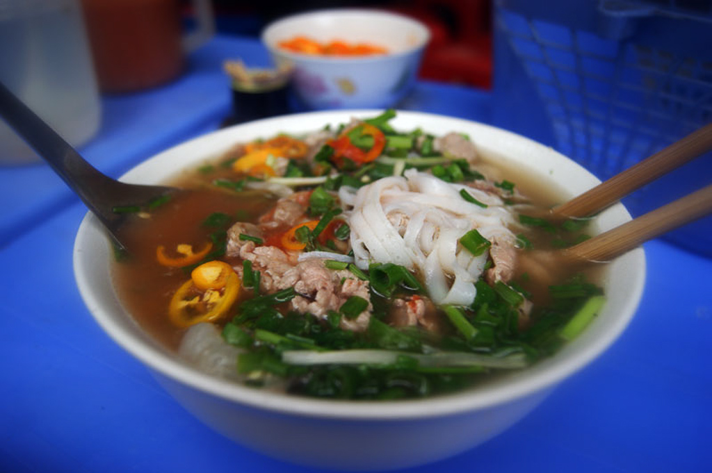 eating cheap pho 