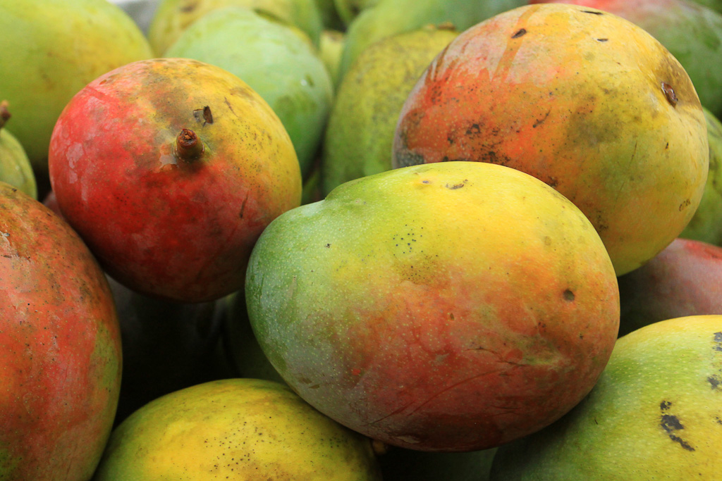 eating cheap mangoes 