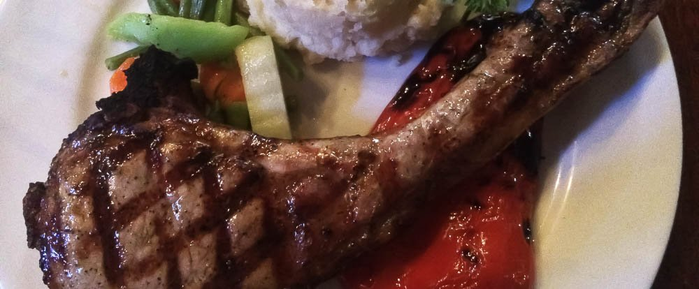 pork chop and mashed potatoes