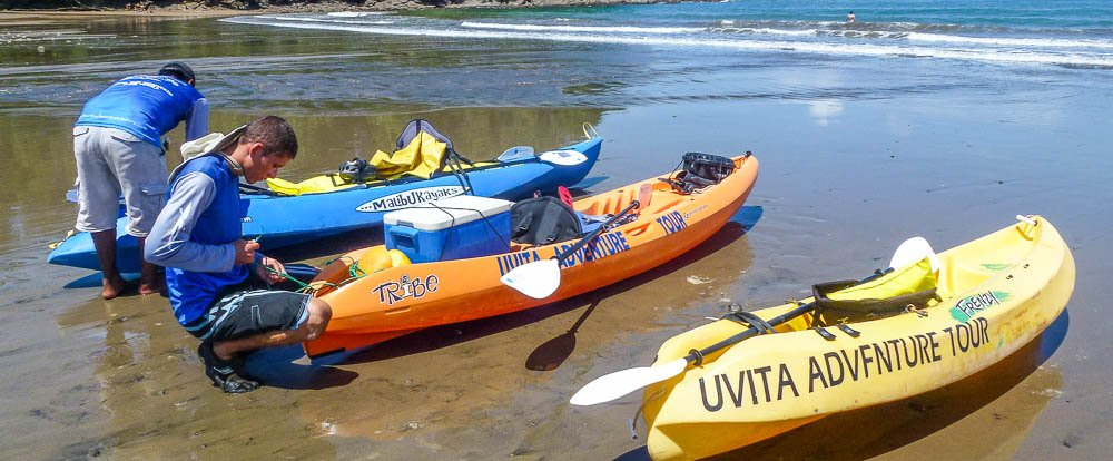 waves and caves tour three kayaks 