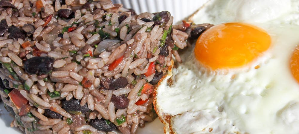 gallo pinto with fried eggs shambala restaurant extra