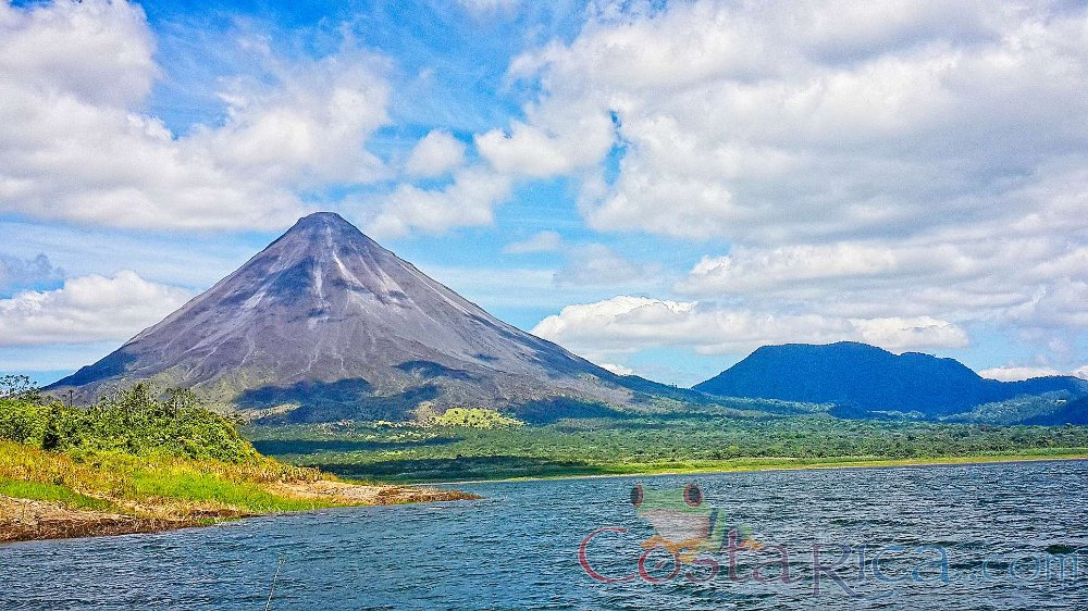 arenal volcano view from lake arenal 