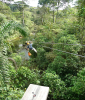 Zipping over a River at Braulio Carrillo National Park