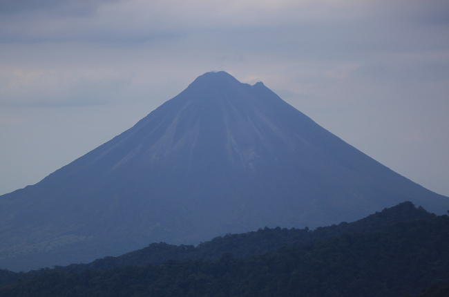 arenal volcano view from san gerardo reserve 