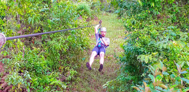 Zip Linning on Drake Bay Corcovado Canopy - Costa Rica