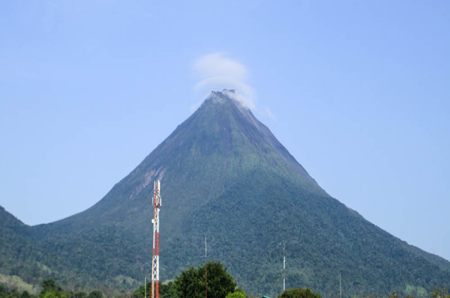arenal volcano view from hotel las colinas 