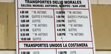 Bus Schedules - Costa Rica