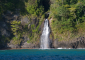 Osa Peninsula Waterfall Cascading into the Ocean