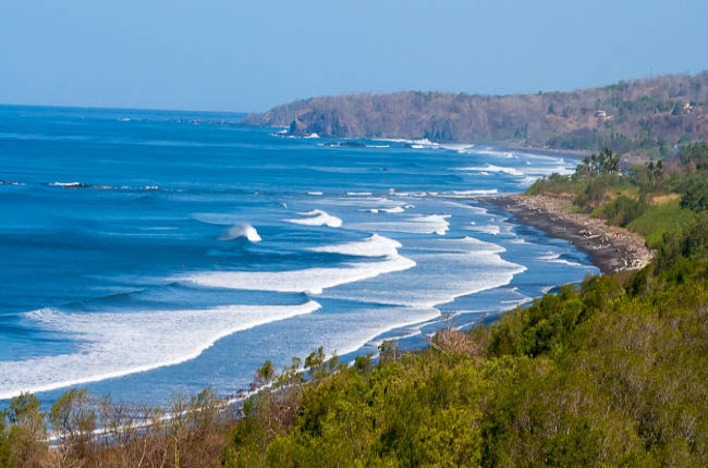 nosara beach and biological reserve view