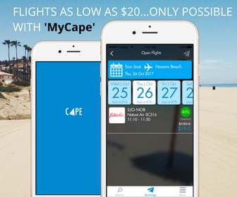 Flights as low as $20 ... only possible with MyCape App